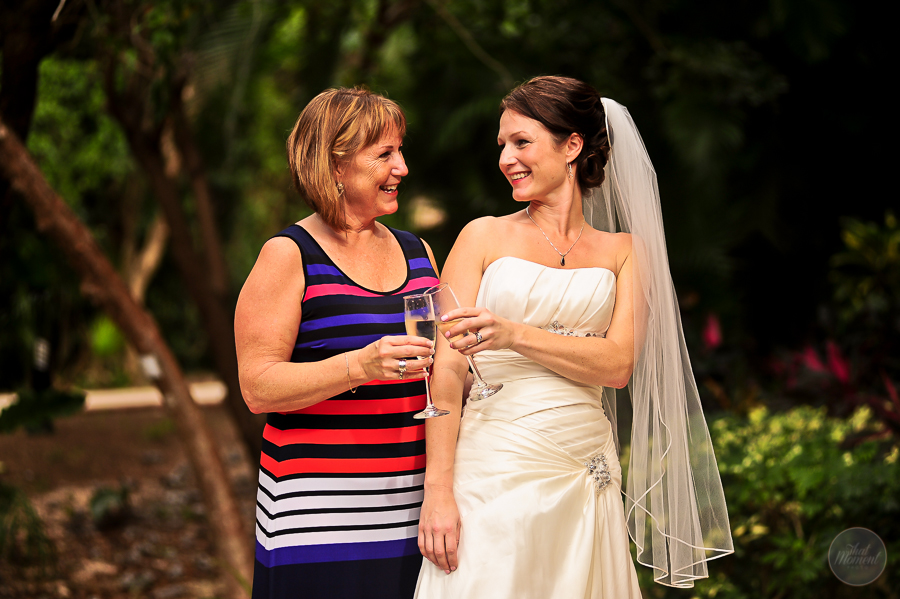 the bride toast with her mom