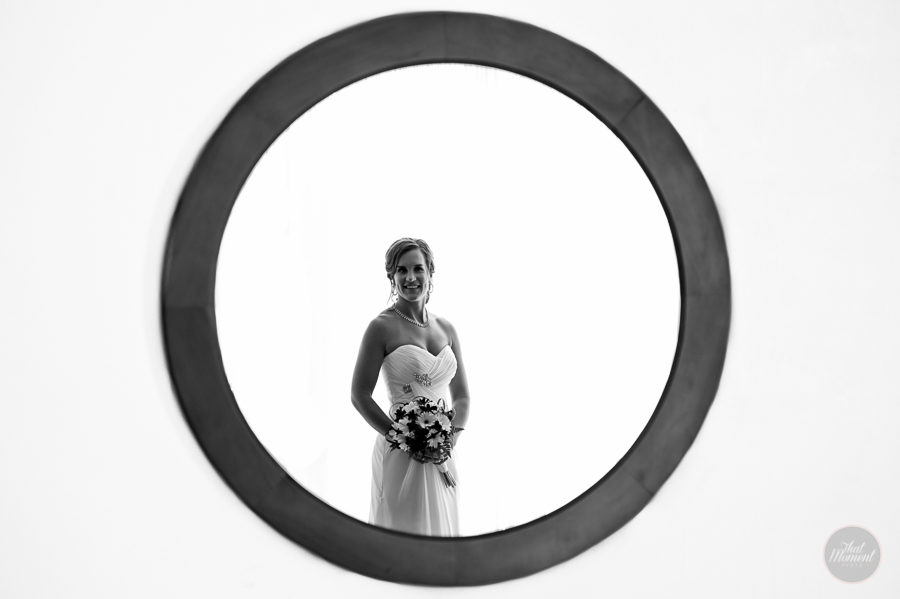 bride doing in the mirror