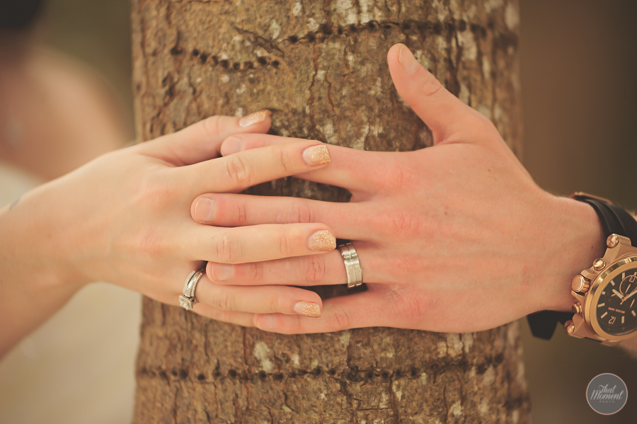Grooms hands with rings